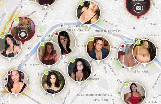 Xflirt: mapa de usuarios